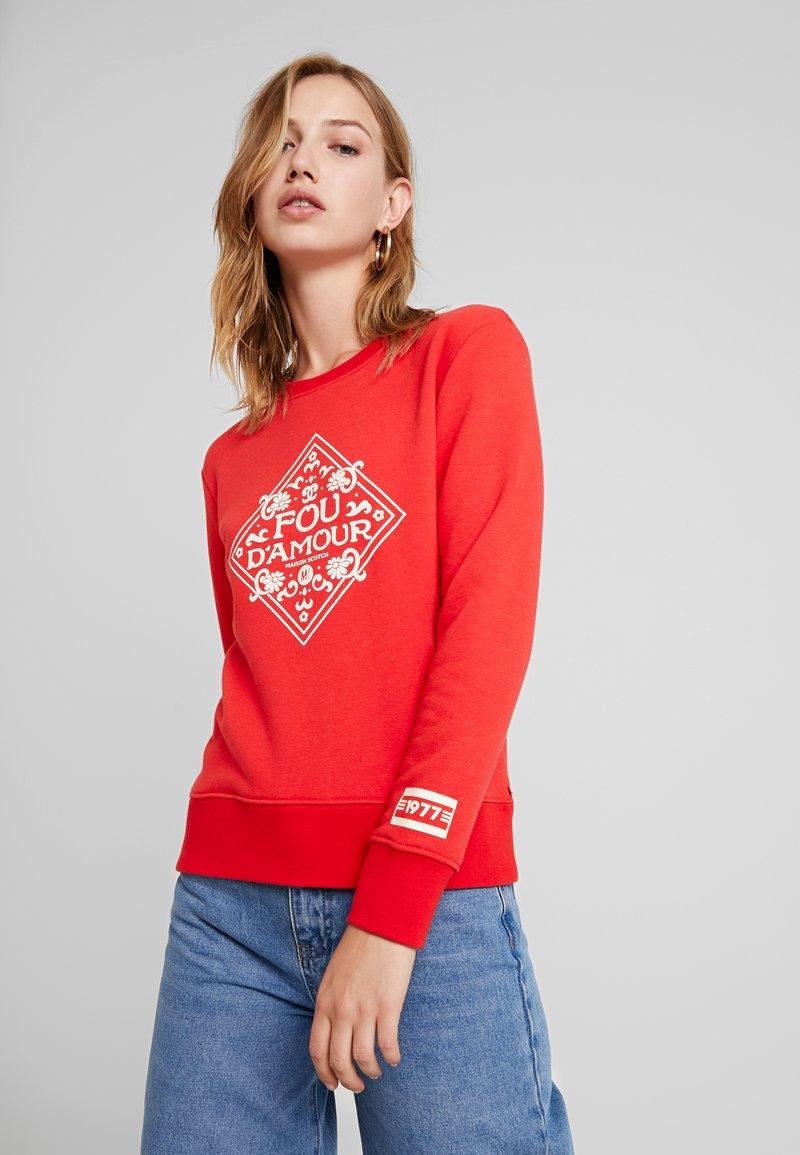 Scotch & Soda - CREWNECK WITH ARTWORKS - Sweatshirt - mars red