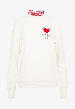 ARTWORKS AND SPECIAL COLLAR - Sweatshirt - off white