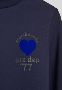 Scotch & Soda - ARTWORKS AND SPECIAL COLLAR - Sweater - navy - 6