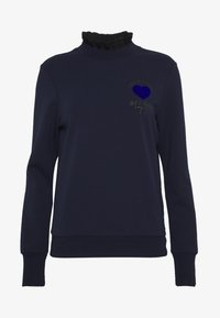 Scotch & Soda - ARTWORKS AND SPECIAL COLLAR - Sweater - navy - 4