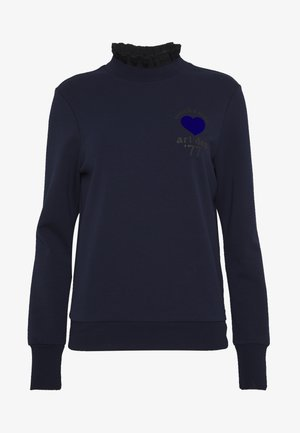ARTWORKS AND SPECIAL COLLAR - Sweatshirt - navy