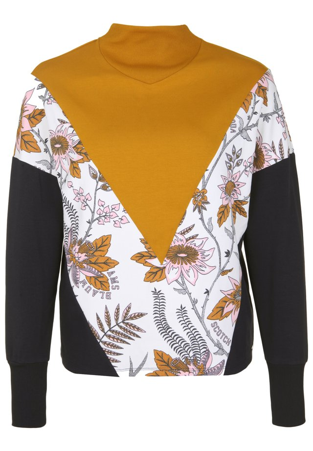 MIT BLUMENPRINT - Sweater - yellow