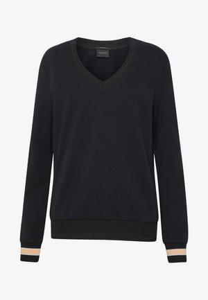 V-NECK  - Sweatshirt - black
