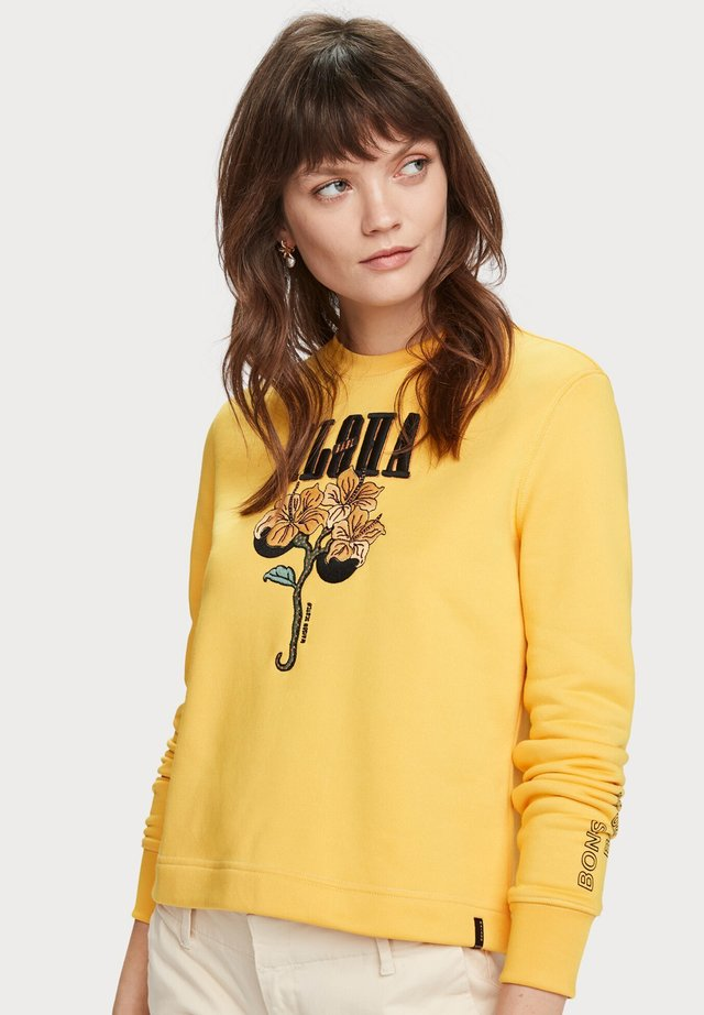 ALOHA ARTWORK SWEATER - Sweater - bright yellow