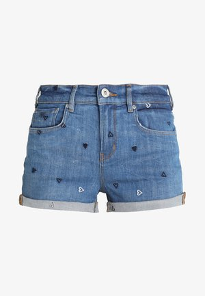 FITTED - Denim shorts - positive blauw