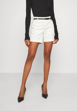 WITH A BELT - Shorts - antique white