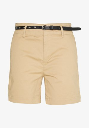 WITH A BELT - Shorts - sand