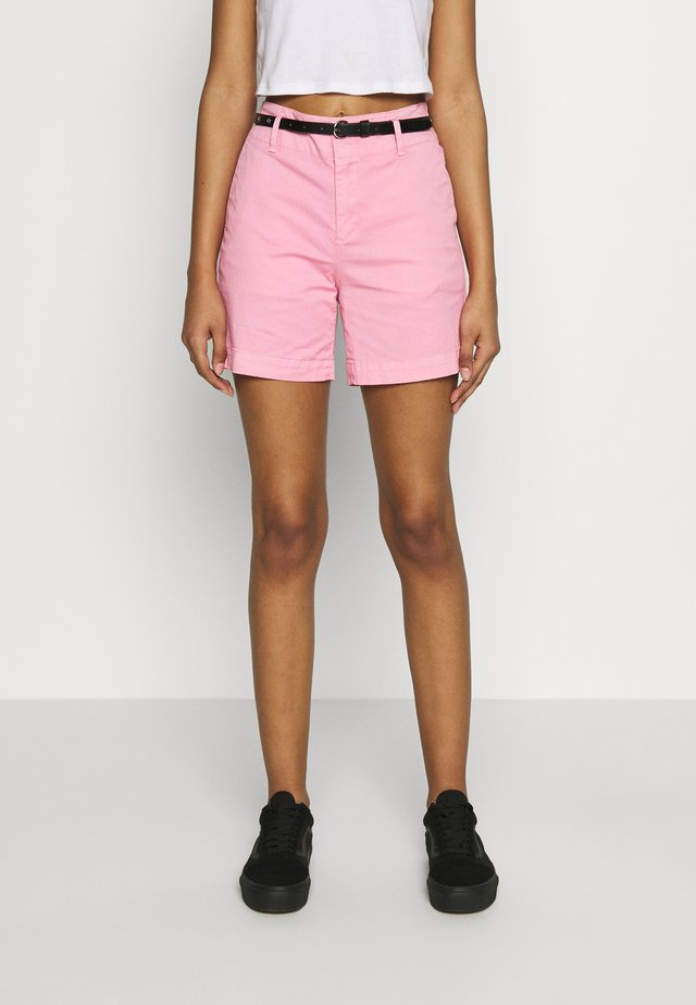 WITH A BELT - Shorts - sorbet pink
