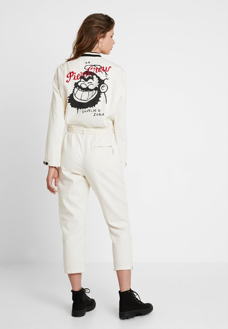 Scotch & Soda - BRUTUS COLAB ALL IN ONE WITH BIG BACK EMBROIDERY - Overal - ecru