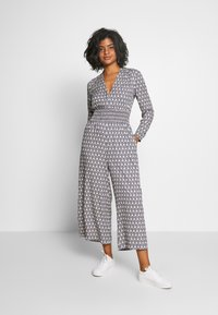 Scotch & Soda - ALLOVER PRINTED ALL IN ONE - Jumpsuit - blue/white - 1