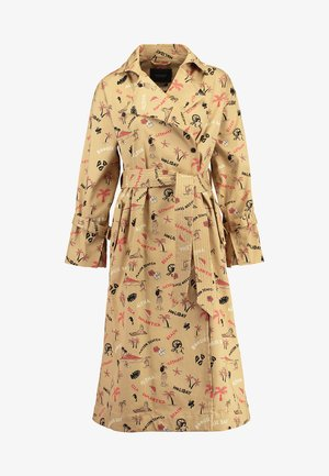 LONGER LENGTH TRENCH COAT IN ALLOVER PRINT - Trenchcoat - combo