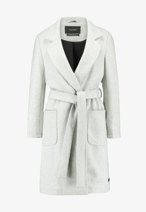 WRAP COAT WITH BELT - Short coat - grey melange