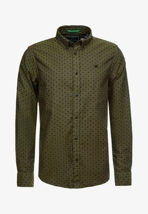 REGULAR FIT CLASSIC OXFORD - Camisa - khaki