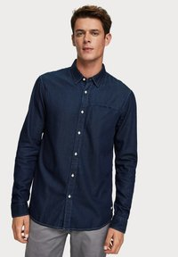Scotch & Soda - LONG SLEEVE WITH POCHET POCKET - Chemise - dark blue - 0