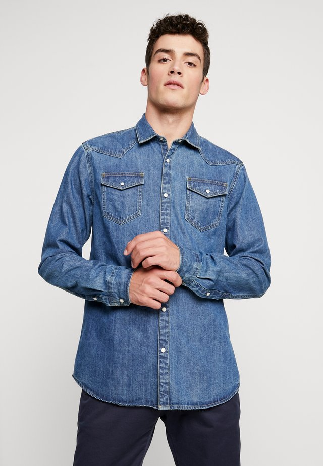 WESTERN IN SEASONAL WASHES - Skjorta - washed indigo
