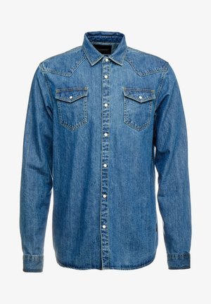 WESTERN IN SEASONAL WASHES - Shirt - washed indigo