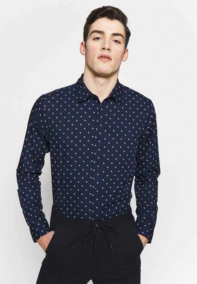 REGULAR FIT CLASSIC PRINTED POPLIN - Skjorta - dark blue