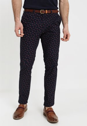STUART CLASSIC GARMENT DYED  - Trousers - dark blue