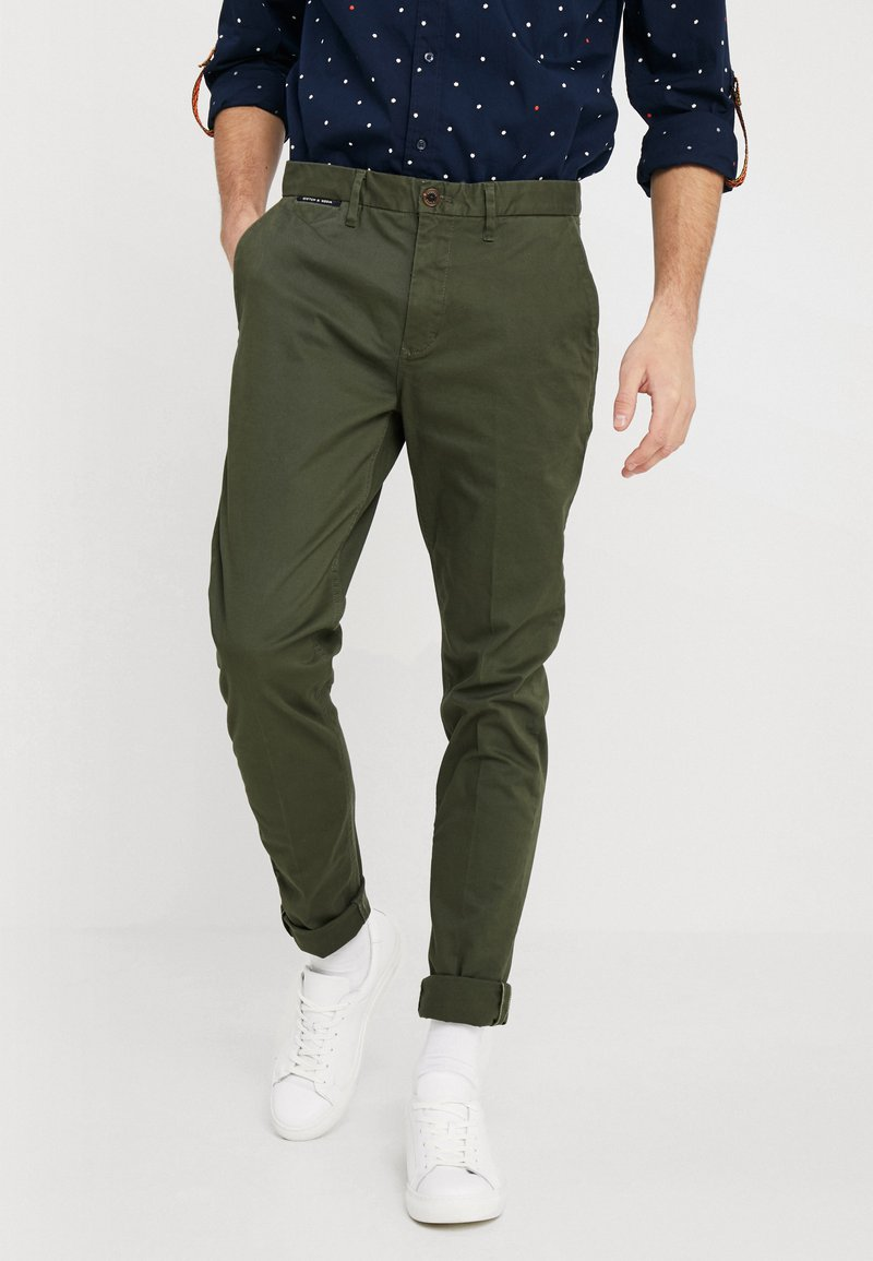Scotch & Soda - MOTT - Chino kalhoty - military