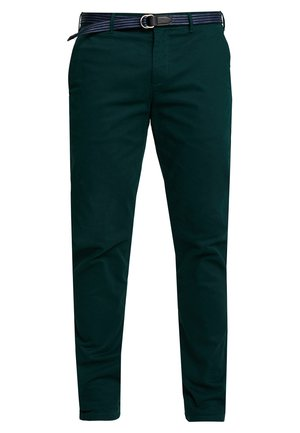 STUART WITH BELT IN STRETCH - Chino kalhoty - bottle green