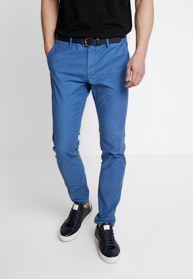 MOTT CLASSIC GARMENT DYED - Chinos - worker blue