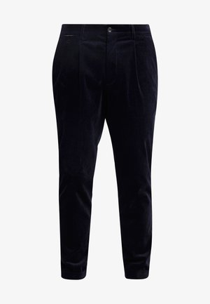 BLAKE CLASSIC CHINO WITH FIXED TURN UP - Stoffhose - navy