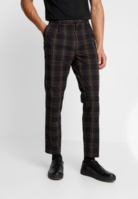Scotch & Soda - SEASONAL FIT CHIC PARTY IN DYED CHECK PATTERN - Pantalones - black - 0