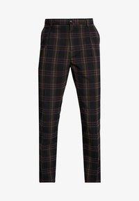 Scotch & Soda - SEASONAL FIT CHIC PARTY IN DYED CHECK PATTERN - Pantalones - black - 4