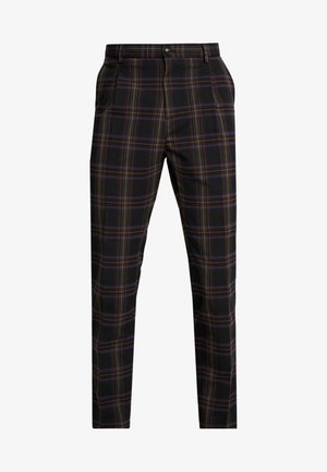 SEASONAL FIT CHIC PARTY IN DYED CHECK PATTERN - Stoffhose - black