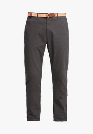 STRETCH STUART WITH BELT - Kalhoty - grey