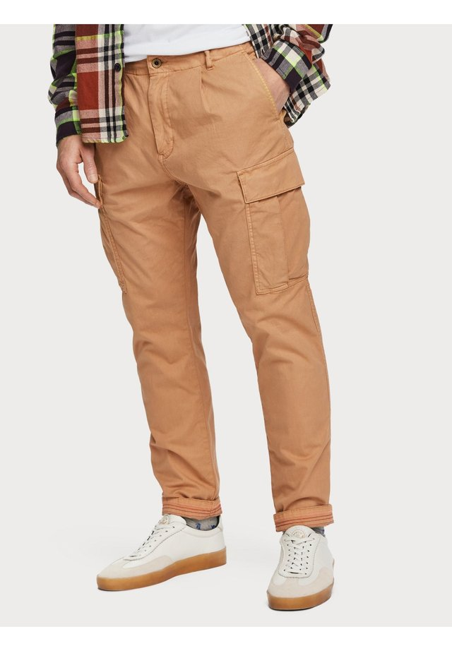 SCOTCH & SODA GARMENT-DYED | LOOSE TAPERED FIT - Cargobroek - sandstone