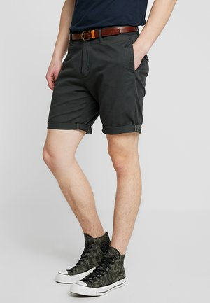 WITH BELT - Shorts - charcoal