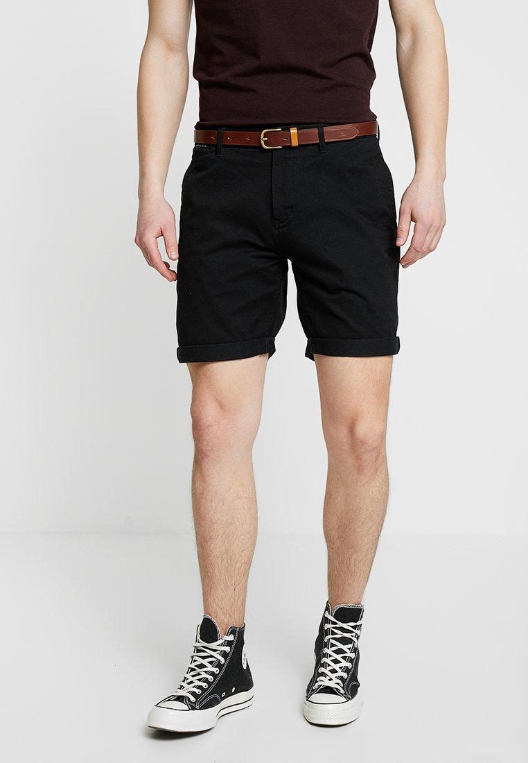 Scotch & Soda - WITH BELT - Shorts - black