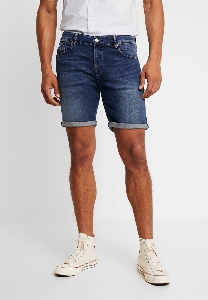 Scotch & Soda - GET KNOTTED - Jeans Shorts - dark-blue denim