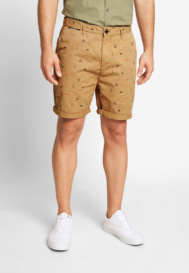 ALL OVER PRINTED IN PIMA - Shorts - beige