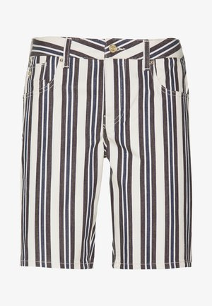 STRIPE OUT - Shorts di jeans - off-white, brow