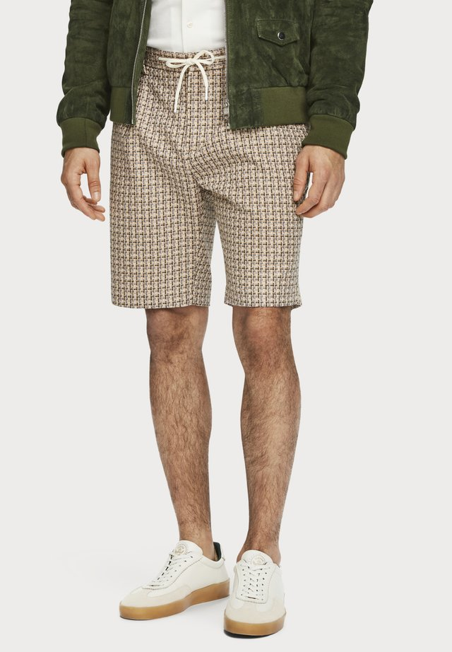 STRUCTURED YARN-DYED  - Shorts - beige