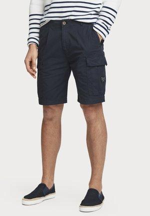 MIT GÜRTEL - Shorts - navy