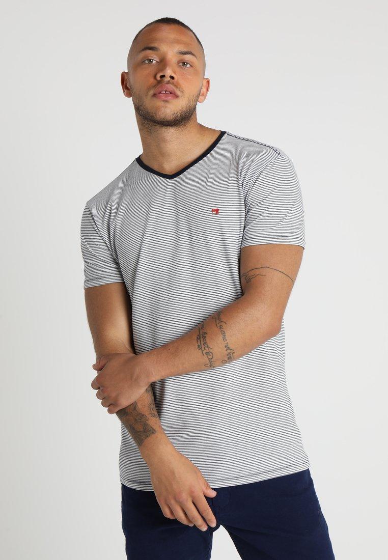 Scotch & Soda - CLASSIC V-NECK TEE - T-shirt print - dark blue