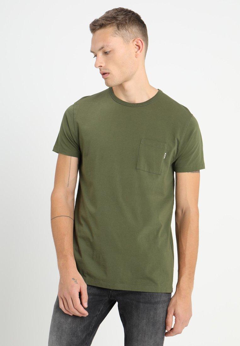 Scotch & Soda - 1 POCKET TEE - Basic T-shirt - military green