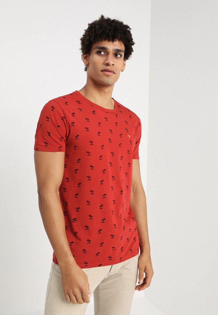 Scotch & Soda - CLASSIC CREWNECK TEE - T-Shirt print - red