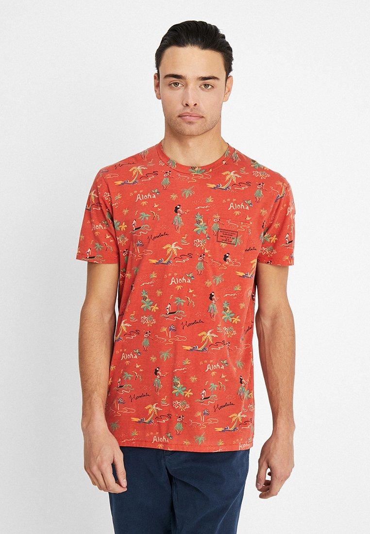 Scotch & Soda - SUMMER TEE WITH HAWAIIAN ALL-OVER PRINT - T-Shirt print - multi-coloured