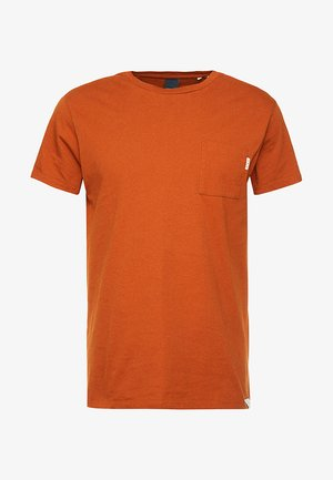 POCKET TEE - Camiseta básica - burned orange