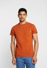 Scotch & Soda - POCKET TEE - T-paita - burned orange - 0