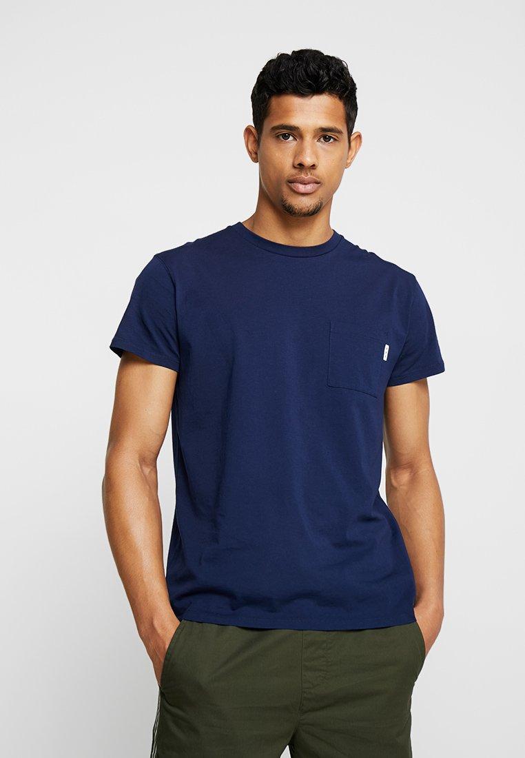 Scotch & Soda - POCKET TEE - T-shirt basic - navy
