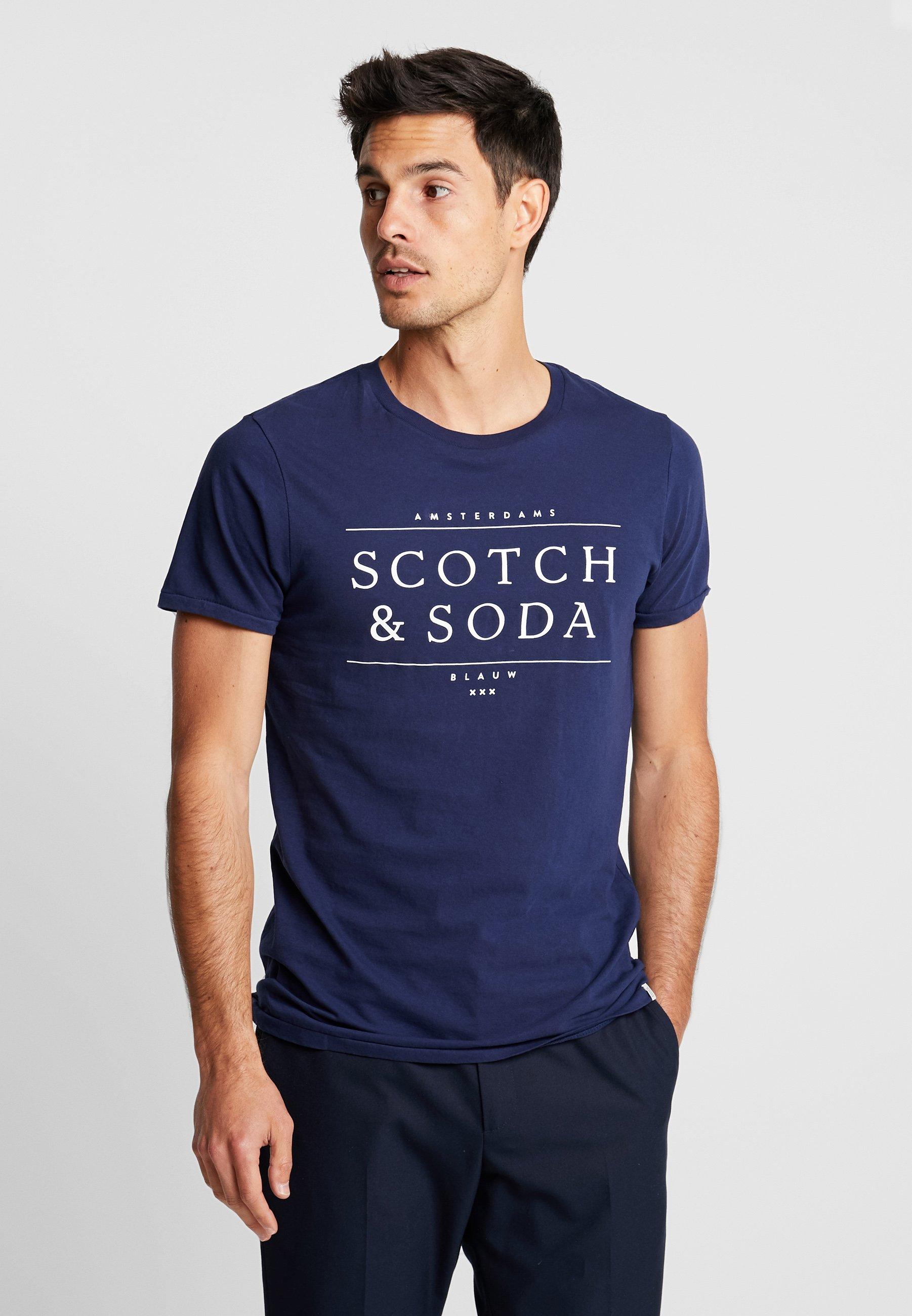 Scotchamp; Logo Imprimé Soda Navy shirt TeeT dCoBsxhrtQ