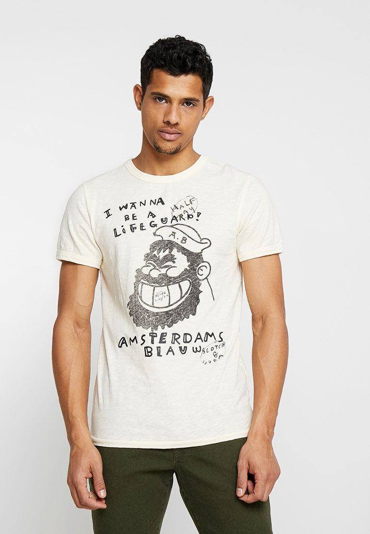 Scotch & Soda - BRUTUS COLAB VINTAGE TEE - T-shirts print - off white