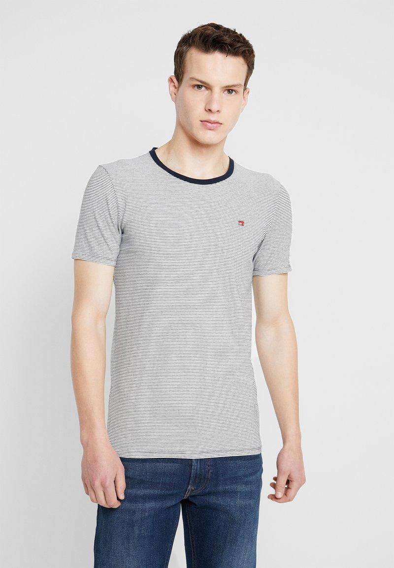 Scotch & Soda - STRIPE REPEAT - Print T-shirt - white