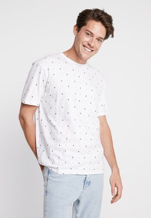 CLASSIC CREWNECK TEE - T-shirt imprimé - white
