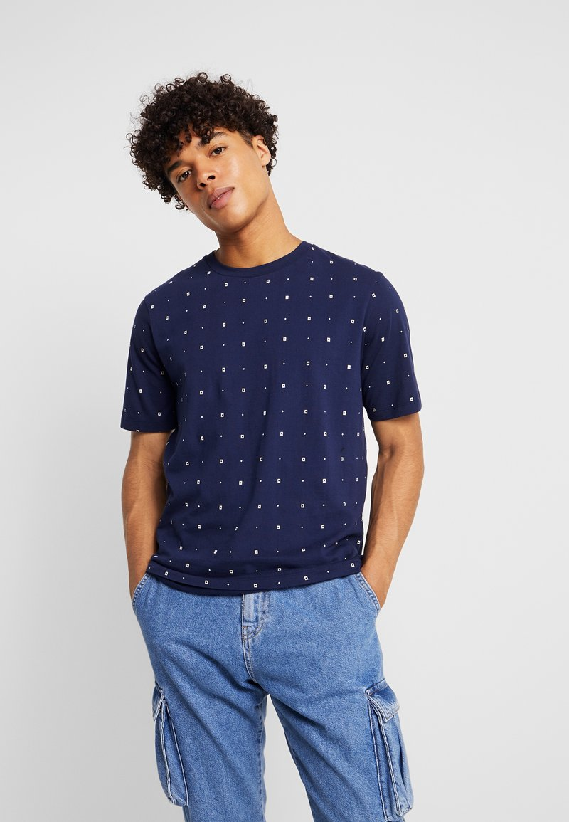 Scotch & Soda - CLASSIC CREWNECK TEE - T-Shirt print - dark blue